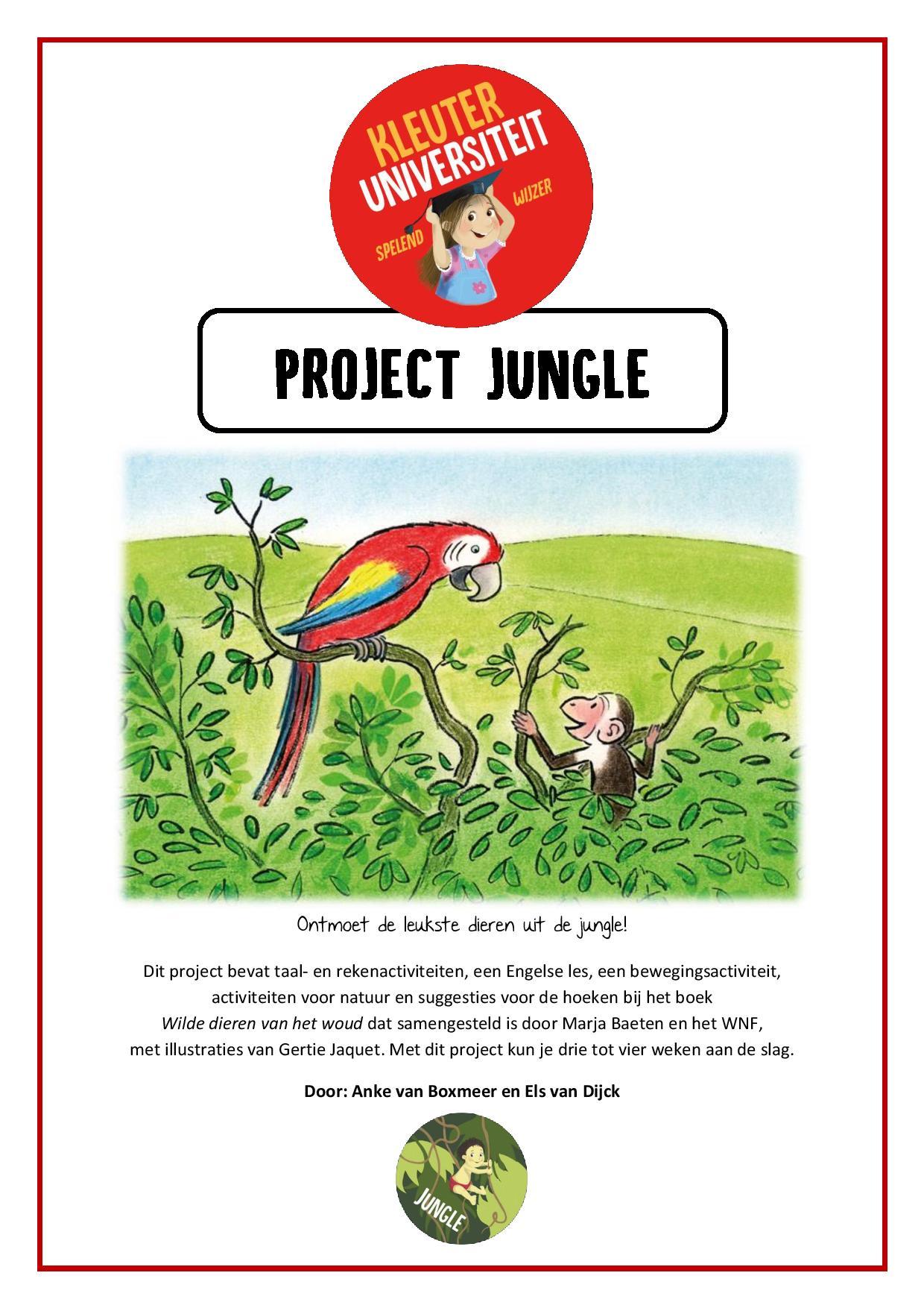 Kleurplaten Dieren Uit De Jungle.Thema Jungle Juf Anke Lesidee Kleuters
