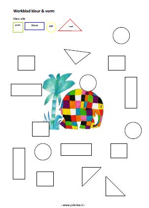 Welp Thema kleur en vorm | Juf Anke lesidee kleuters WJ-38