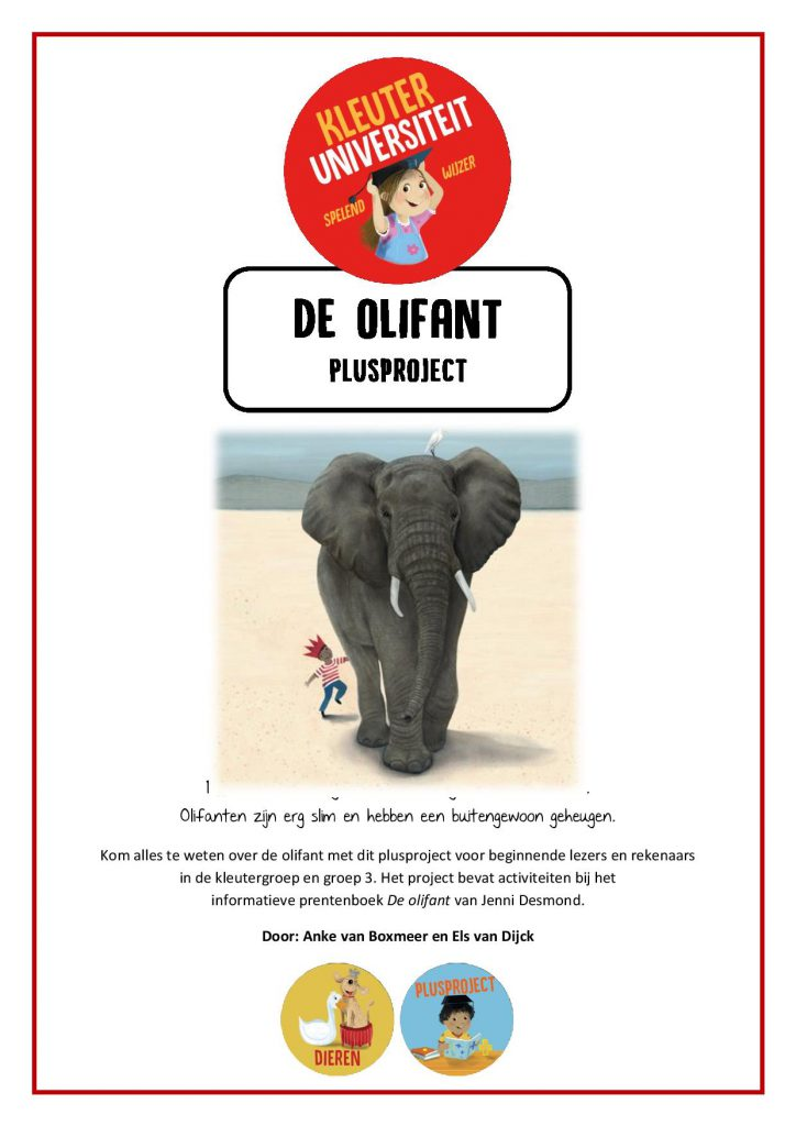 Plusproject slimme kleuters olifant