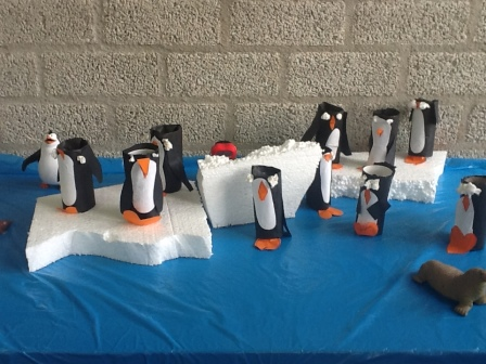 wintertafel pinguins